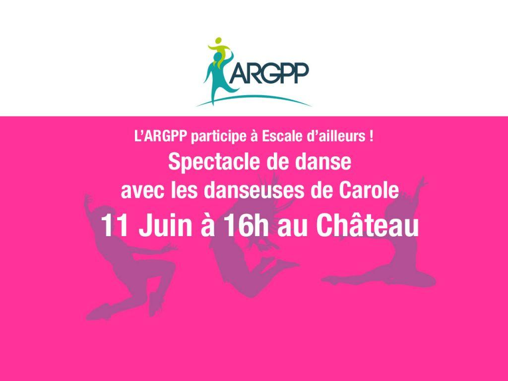 Spectacle de danse avec les danseuses de Carole à Escale d'ailleurs le samedi 11 Juin à 16h au Château